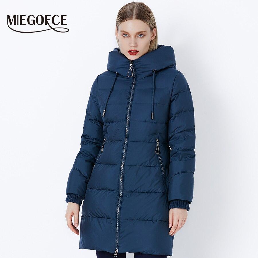 MIEGOFCE 2019 hiver femmes manteau veste avec une capuche et parcs d'hiver pour les femmes de haute qualité veste avec chapeaux mode femmes manteau