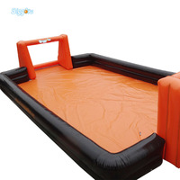 Commercial Use Inflatable Football Field Inflatable Soap Field For Sports Games