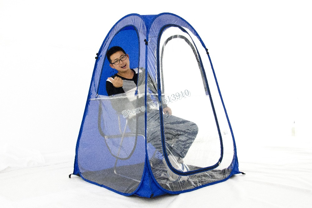 Bigger size rainproof single person Private sun shade insulation watching sports pop up tent/Keep warm pop up portable PVC tent-in Tents from Sports ...  sc 1 st  AliExpress.com & Bigger size rainproof single person Private sun shade insulation ...