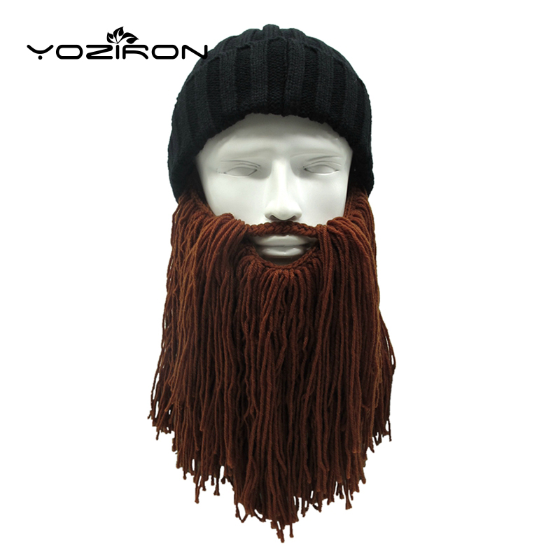Handmade Adult Long Beard Beanies Winter Hats For Men Women Knitted Hats Caps Male Spring Autumn Winter Hat Unisex Warm Gorras