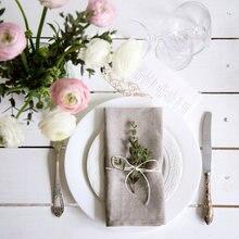 12 Uds servilletas de lino, servilletas de tela de lino, servilletas de mesa para fiesta de boda, 4 tamaños disponibles