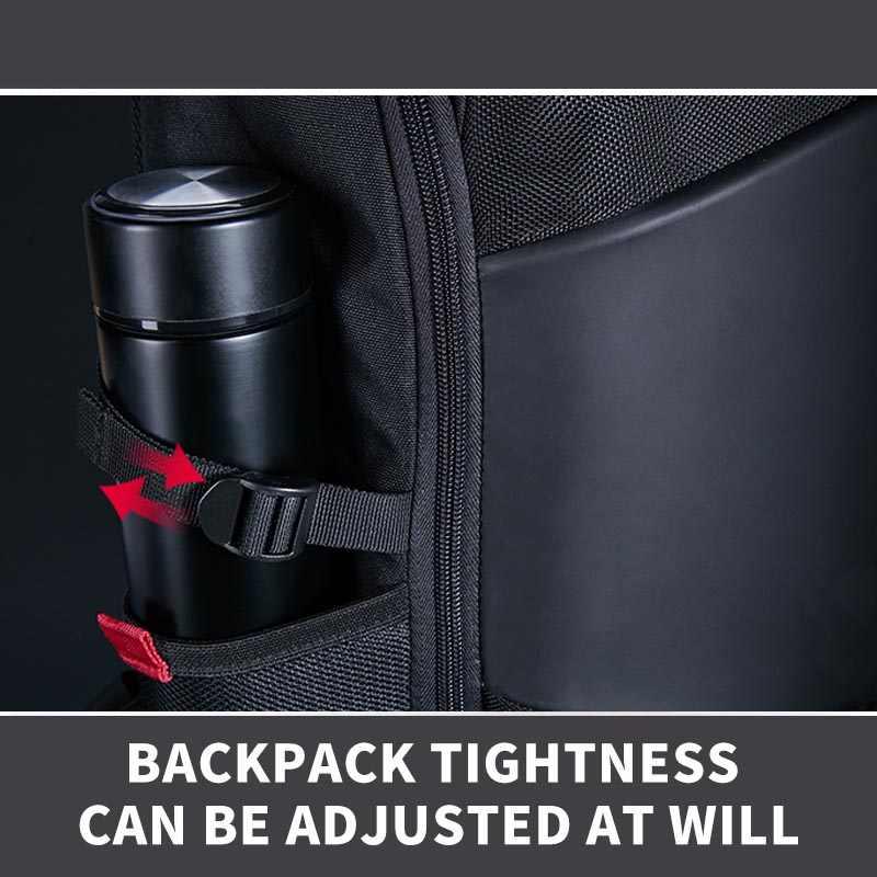 KALIDI, водонепроницаемые мужские рюкзаки 35L, большая вместительность, многофункциональные дорожные сумки для 15,6 дюймов, сумки для ноутбуков, однотонные черные школьные сумки