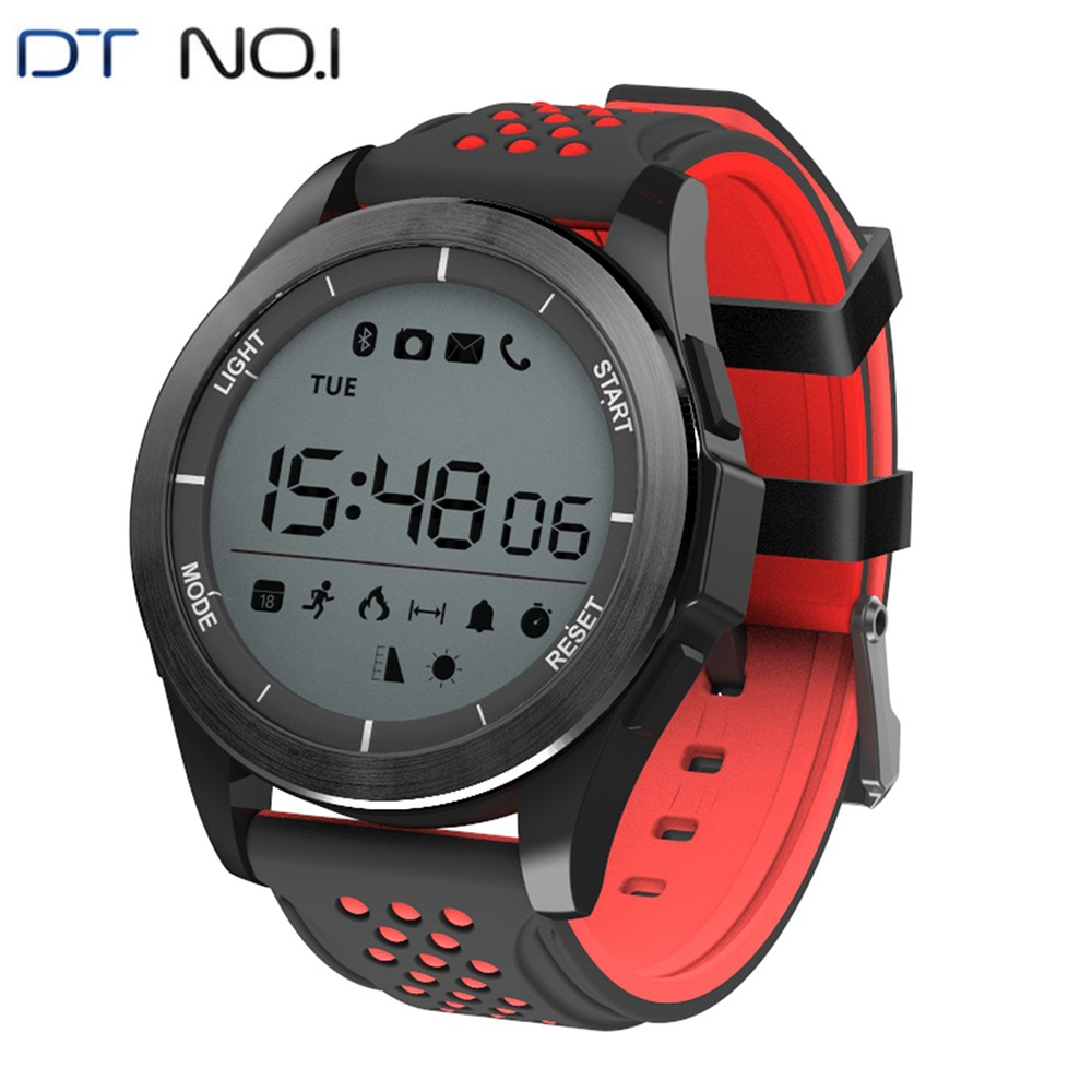 DTNO.1 F3 Smartwatch IP68 Waterproof Bluetooth Smart Watches Outdoor Sports Swimming Soft Silicone Strap Wearable Devices 2020 image