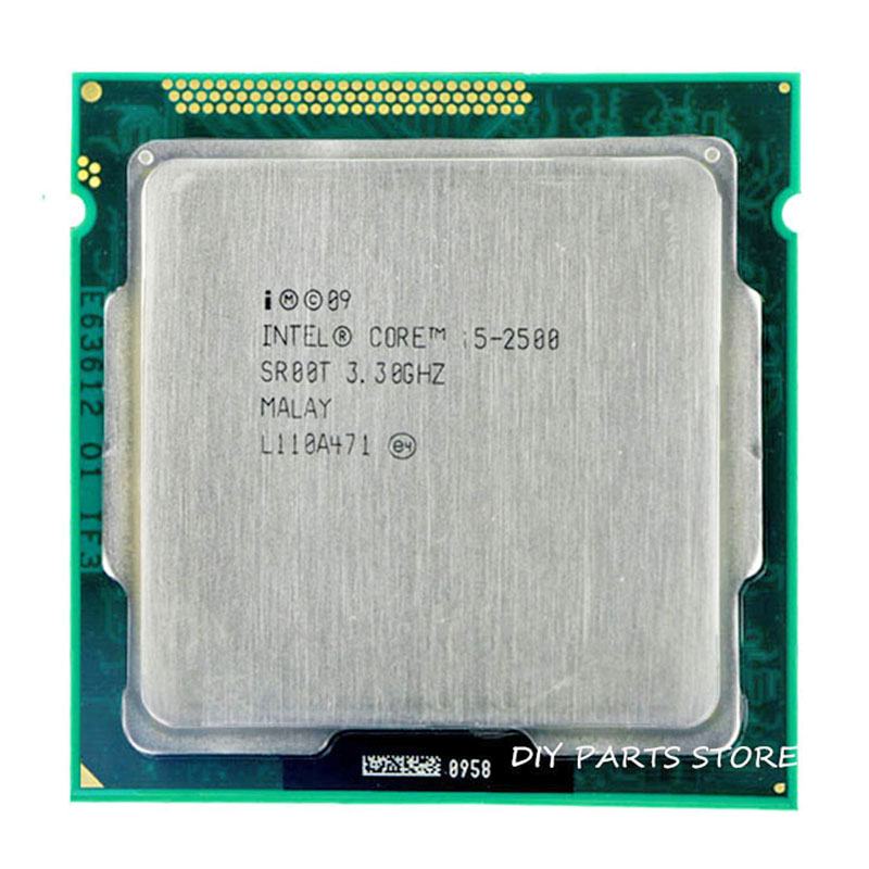 Intel Core i5 2500 i5-2500   3.1GHz/ 6MB Socket 1155 CPU Processor  HD 2000 Supported memory: DDR3-1066, DDR3-1333