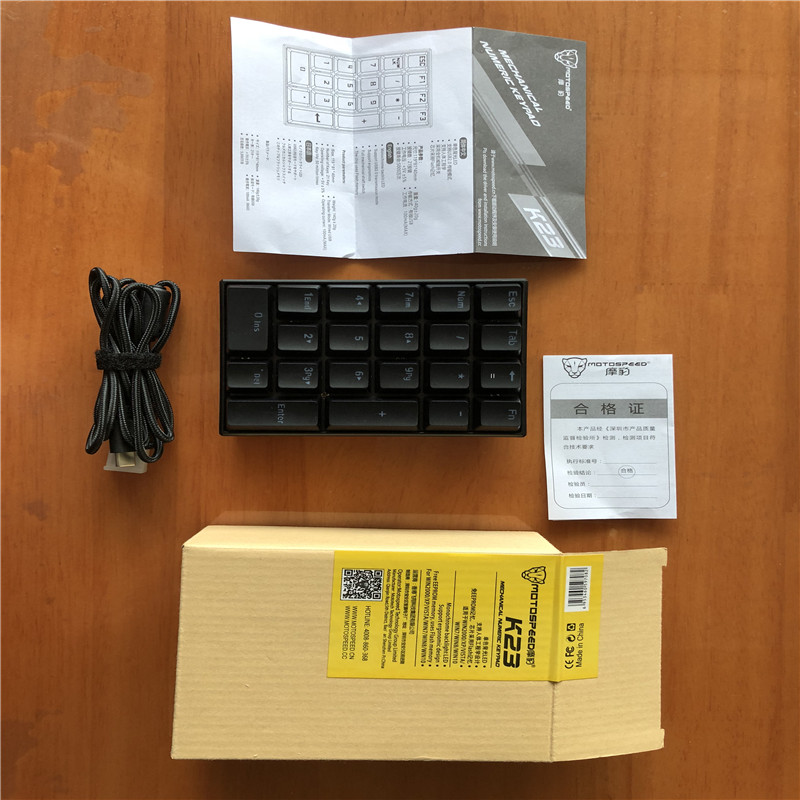 fio 21 teclas mini numpad led backlight