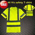 EN471 shirt ANSI shirt workwear High visibility safety  reflective safety shirt fluorescent yellow hi vis safety T-shirt