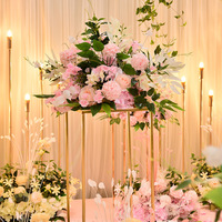 40cm Peacock leaf peony hydrangea artificial flower ball bouquet dedor wedding party backdrop road guide table centerpiece 1pc