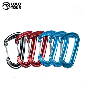 12KN Aluminum Hammock Swing Safety Buckle Carabiner Magnesium Alloy Quickdraw Quick Hanging Belts Hook Clasp Camping Equipment