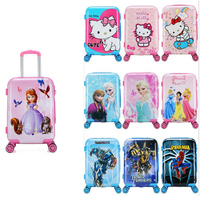 New 20 Inch Cartoon Children Rolling Luggage Kid Suitcase Boy Girl Princess Abs Trolley Case Boarding Box Trunk Carry Rol