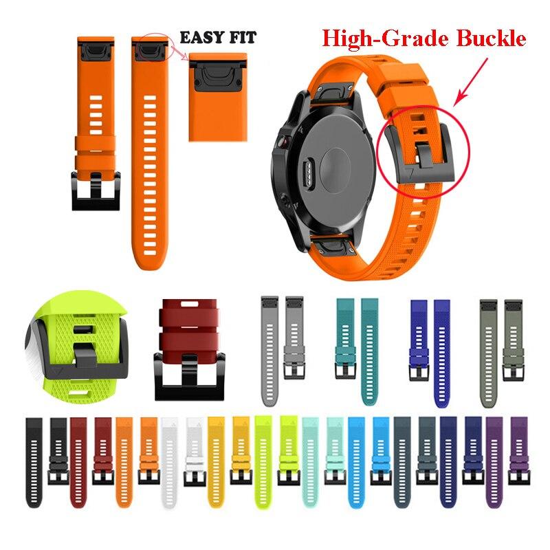 JKER 26 22 20 MM Armband Strap für Garmin Fenix 5X5 5 S Plus 3 3HR D2 S60 uhr Schnelle Release Silikon Easyfit Handgelenk Band Strap