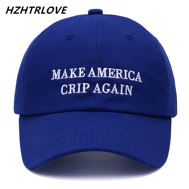 High Quality Brand Letter MAKE AMERICA CRIP AGAIN Snapback Cap Cotton Baseball Cap For Men Women Hip Hop Dad Hat Bone Garros high quality washed cotton broken hole snapback men women baseball cap the high street dad hat kanye west mesh cap hip hop hat