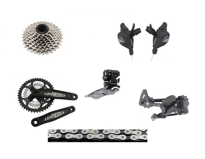 все цены на Entry level bicycle Groupset Drivetrain3X8 speed 24speed group set Mountain bike Groupset Group Set bike bicycle parts онлайн