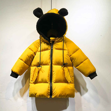 Boys Girls Coats Winter cotton Jackets Kids Warm Snowsuit Children Hooded Parka Spring Thick Outwear Coats Kids cute clothes недорого