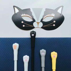 Image 4 - 48 pcs Gel Pens Cartoon cat black colored kawaii gift gel ink pens pens for writing Cute stationery office school supplies