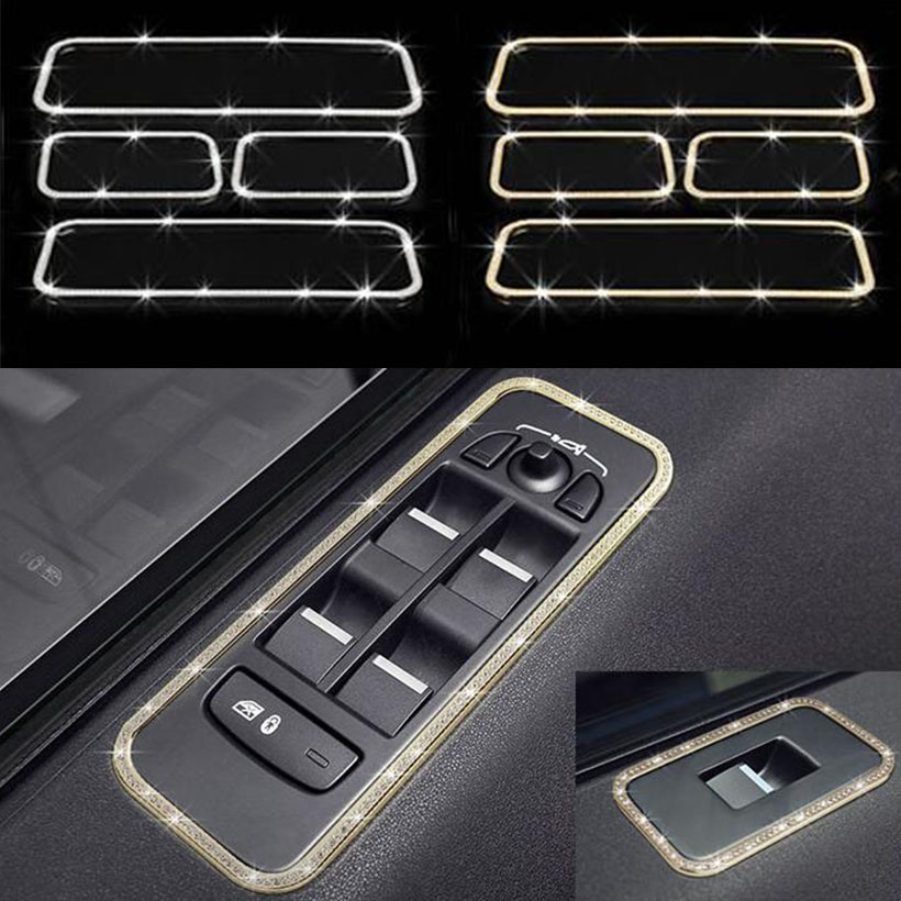 Car Interior Accessories For Land Rover Discovery Sport 2015 2016 2017 Door Window Lift Button Frame Trim Car StylingCar Interior Accessories For Land Rover Discovery Sport 2015 2016 2017 Door Window Lift Button Frame Trim Car Styling