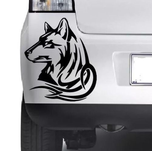 Car styling for tribal wolf cool vinyl sticker car bumper van window wall laptop jdm vinyl decal in car stickers from automobiles motorcycles on