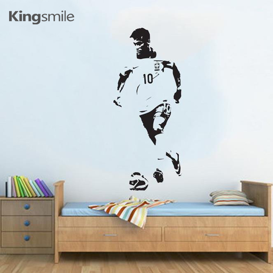 Aliexpress.com : Buy Kingsmile Neymar Football Soccer Wall Stickers Poster  Vinyl Art Decals For Kids Rooms Wall Sticker Bedroom Decoration Home Decor  From ...
