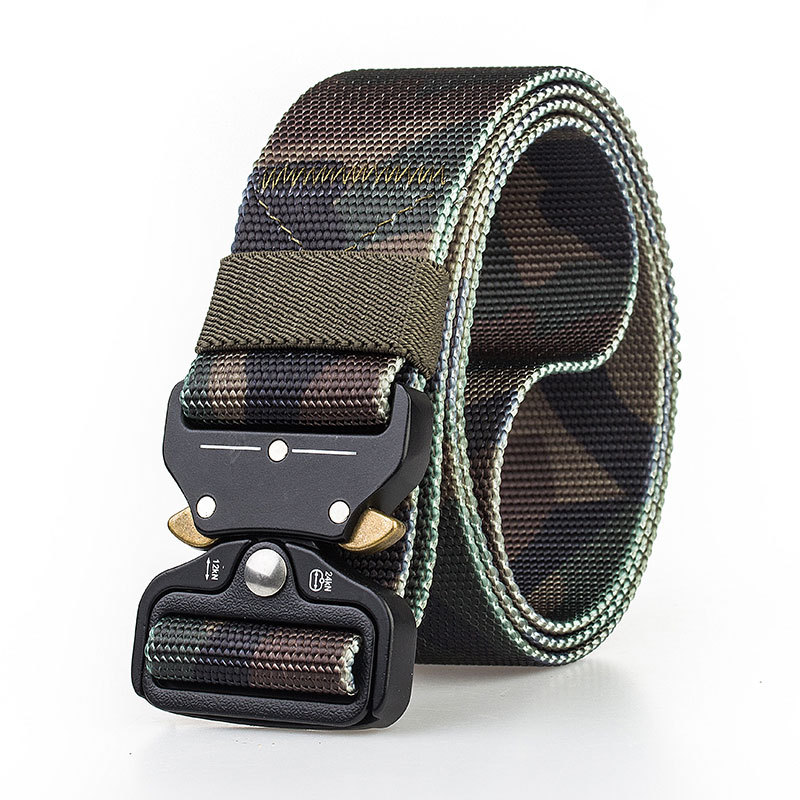 Male Tactical belt military Canvas alloy buckles Belts Outdoor Tactical Belt men's Military Nylon Belts Army variety of color 66
