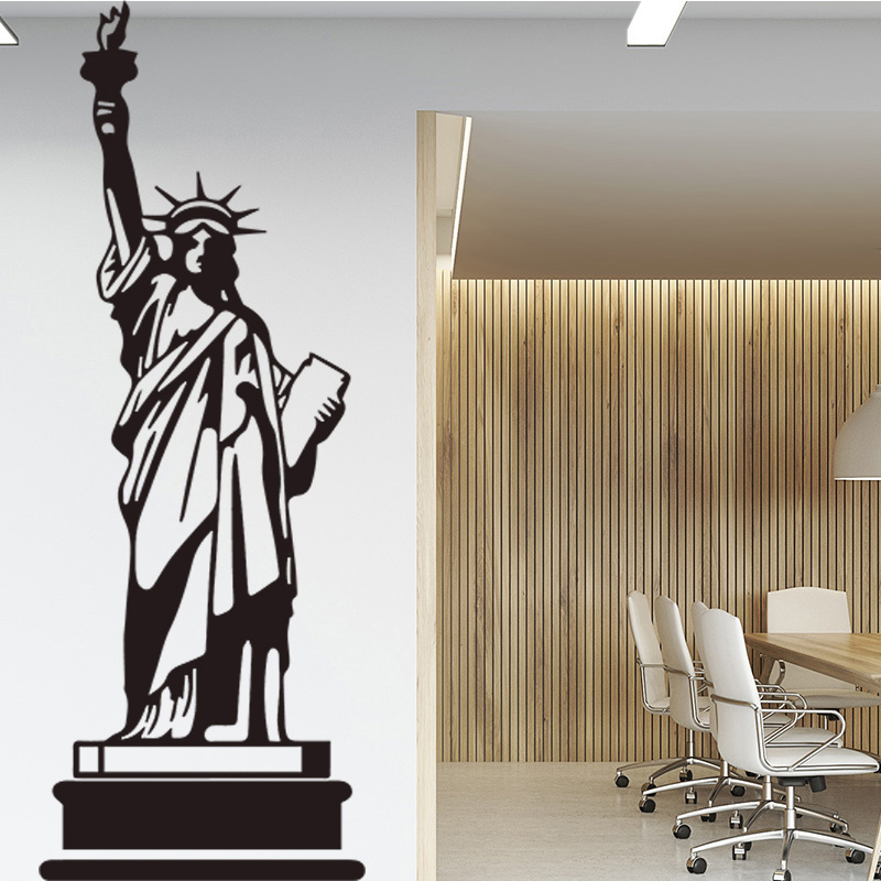 Statue Pattern Wall Sticker for Office Creative Design Self-adhesive Art Stickers Vinyl Mural Waterproof Accessories Wall Decal