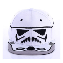 Men White Black Fabric Brand Baseball Cap Trooper Star Wars Snapback Caps Cool Strapback Boy Hip Hop Hats for Women