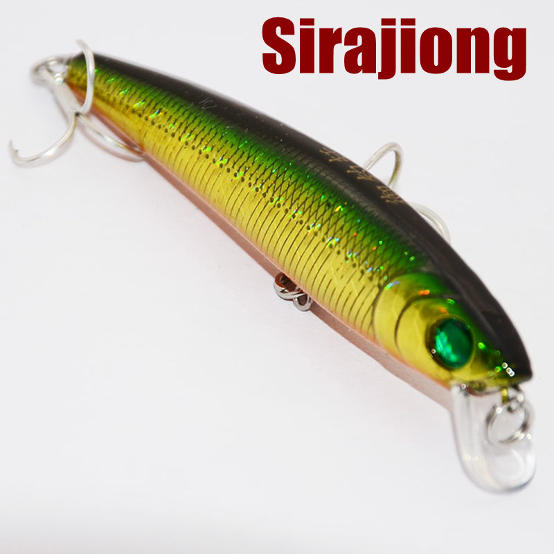 1Pcs Box Floating Fishing Lure Minnow Crankbaits Hard Bait ABS Plastic 5g 71mm Japan BKK Hook Freshwater Fishing Tackle Wobblers in Fishing Lures from Sports Entertainment