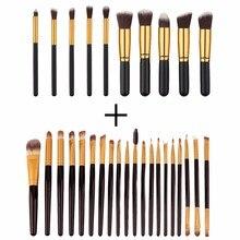 2016 Hot 30 Pcs Makeup Brushes Set Maquiagem Powder Eyeshadow Eyebrow Eyeliner Blush Foundation Brush Cosmetic Make Up Brushes