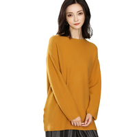 DILLY FASHION women's cashmere merino wool crew neck sweater wool pullover sweater GML7254