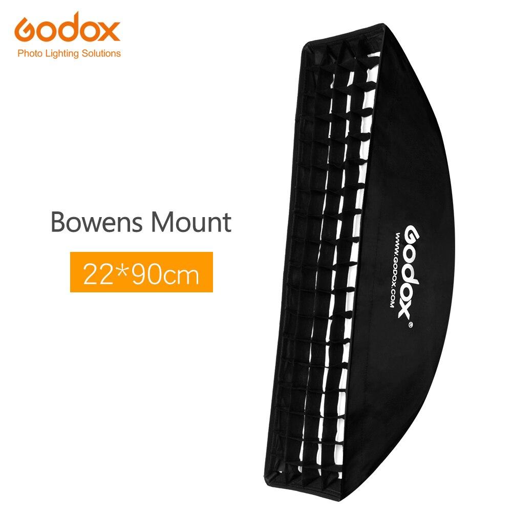 Godox Фотостудия софтбокс 22x90 см 9 х 35 Портативный прямоугольный Honeycomb Сетка мягкая коробка с bowens крепление для вспышки видео