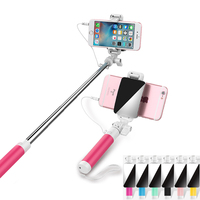 Easy Insert Use Universal With Mirror Mini Tripod Monopod Selfie Stick Portrait For IPhone Sumsang