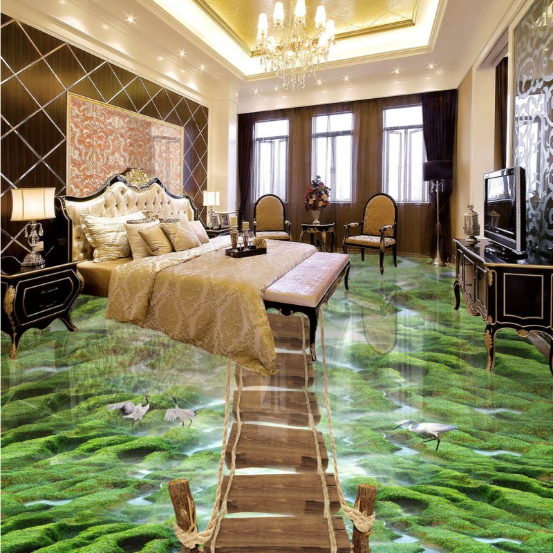 цены  Free shipping custom living room corridor home decoration wallpaper mural 3D bathroom river reef balcony floor roll office