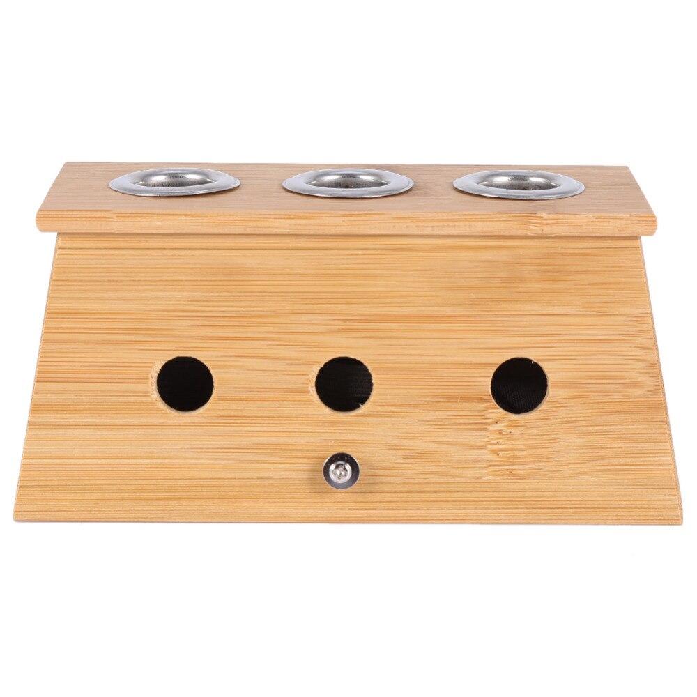 2 типтері Massager Moxa Roll Holder Moxibustion Bamboo Box - Денсаулық сақтау - фото 3