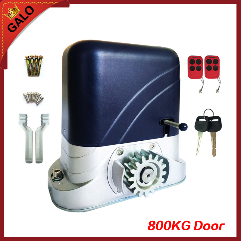 800kg heavy duty 2 REMOTE CONTROL AUTOMATIC SLIDING GATE OPENER motor with infrared photocell factory waterproof easy install heavy duty dc24v automatic swing gate opener for remote garage door opener
