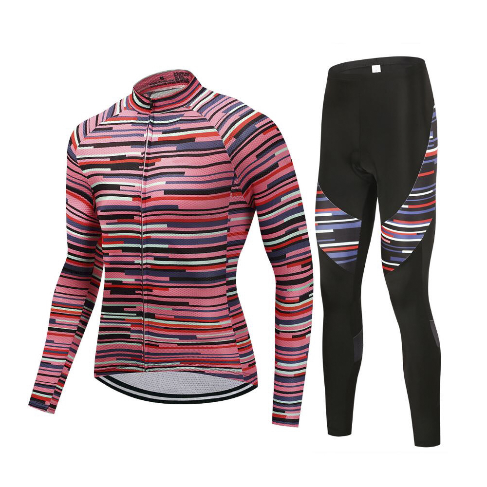 Mens Cycling Jersey Set Mountain Bike Long Sleeve Bike Clothing Wear Maillot Ropa Ciclismo Sportswear with GEL PADMens Cycling Jersey Set Mountain Bike Long Sleeve Bike Clothing Wear Maillot Ropa Ciclismo Sportswear with GEL PAD