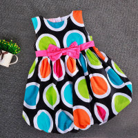 2015 New Summer Dress Colourful Kids Dot Dress For Girl Dress Free Shipping Dresses Retailer Dress