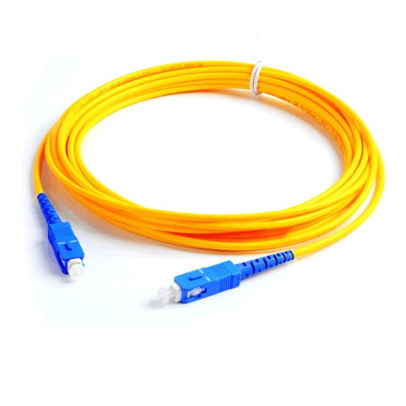 10pcs/lot SC-SC single core fiber jumper fiber optic cable 3 meters fiber optic jumper cable