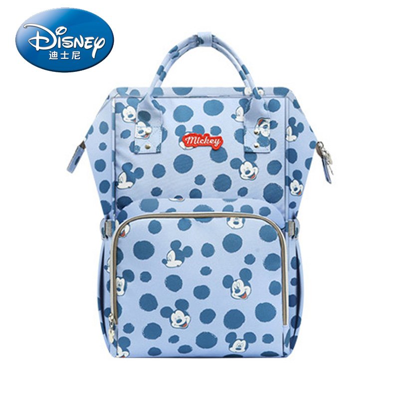 Disney 2019 Mickey Mouse Minnie USB Heating Waterproof Diaper Bag Child Mummy Backpack Baby Mother Travel Bag Large Capacity