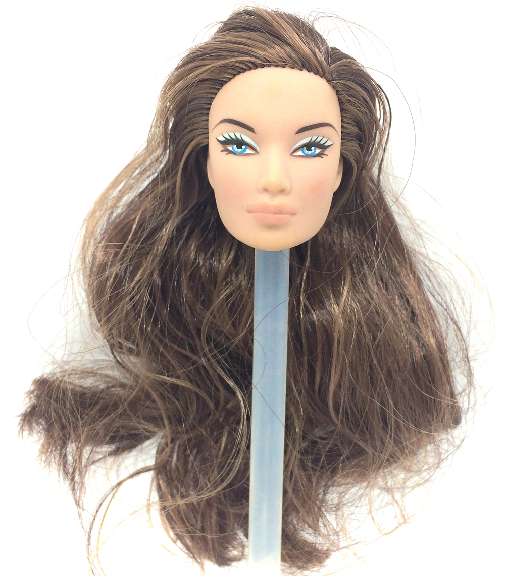 NK One Pcs Original FR Doll Head For FR Dolls 2002 Limited Edition Collection Long Hair Best DIY Gift For Girls' Doll 004B nk 3 pcs set original fr doll head for fr dolls 2002 limited edition collection curly hair best diy gift for girls doll