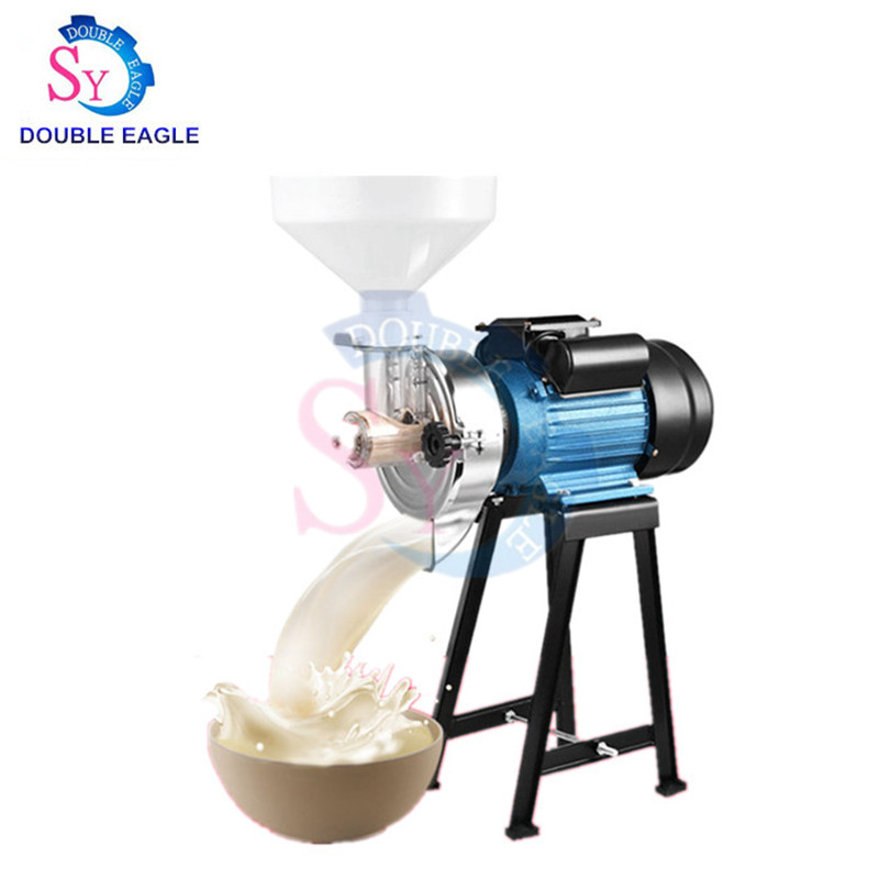 High Capacity Small Electric Wet And Dry Whole Grains Grinder/corn Rice Peanut Grinding Colloid Mill Milk Butter Making Machine