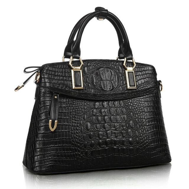 2016 New Genuine leather bag Crocodile handbag fashion Shoulder Messenger bag woman Cowhide casual bag Handbag trend luxury genuine leather bag fashion brand designer women handbag cowhide leather shoulder composite bag casual totes
