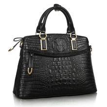 2016 New Genuine leather bag Crocodile handbag fashion Shoulder Messenger bag woman Cowhide casual bag Handbag trend