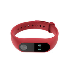 For Xiaomi Mi Band 2 Bracelet Strap Smart Watch Replacement Strap Belt Silicone Strap Wristband For Xiaomi Band 2 Accessories(China)