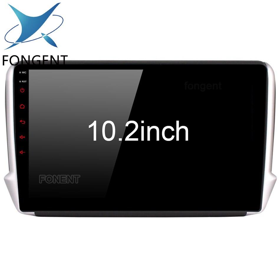 Android Lecteur Multimédia De Voiture pour Peugeot 208 2008 2012 2013 2014 2015 2016 2017 2018 Glonass GPS Carte de Navigation Stéréo audio PC