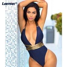 Sexy Women Swimwear One Piece Swimsuit Female  Bather Bathing Suit Swim Halter Monokini Brazilian Plus Size Beachwear