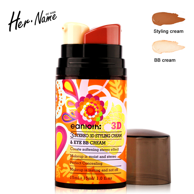 Her name 3D eye bb cream glow kit Concealer foundation base makeup brand light showder make up facial double wear Moisturizing