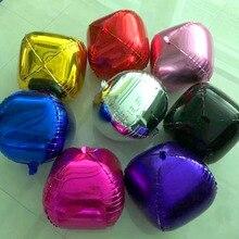 4D круглые воздушные шары из фольги 2 шт./лот 18 дюймов цвета: золотистый, серебристый гелиевые шары свадьба брак День рождения украшение для мероприятия вечеринки принадлежности