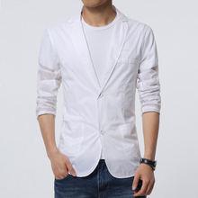 Летние мужские белые тонкие блейзеры куртка Солнцезащитная приталенная
