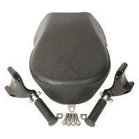 TCMT Motorcycle Passenger Pillon Seat W/ Rear Foot Peg For Harley Sportster XL 883 1200 07 15 14