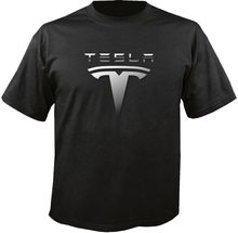Tesla Electric Car Logo T-Shirt Stranger Things Design T Shirt 2018 New Short Sleeve Cheap Sale Cotton