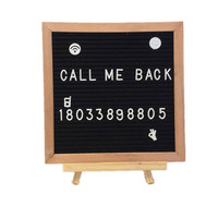 1pcs 10 * 10 Felt Letter Message Board School Office Decor Board Oak Frame White Holder Letters Symbols Numbers Characters Bag