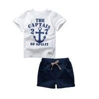 2017 Kids Clothes Boys Summer Clothing Sets Costumes For Baby Cotton Tracksuit Children Sweatshirt Short Pants